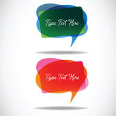Meshed Speech Bubbles — Stock Vector