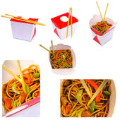 Noodles in the box — Stock Photo