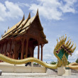 Stock Photo: Modern Thai teak temple