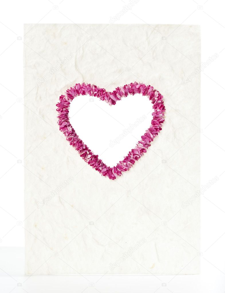 Valentine paper card  Stock Photo #5866416