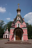 Russia, Talezh. The Church of David of Serpukhov and the belfry. — Stock Photo