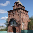 Russia, Kolomna. Pyatnitskie gates in the Kolomna Kremlin. — Stockfoto