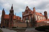 Vilnius, litva. katedrála st. anne. — Stock fotografie