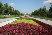 "Moscow. Museum ""Tsaritsyno"". Flower Alley. — Foto de Stock"