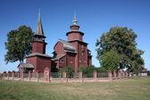 Russia. Wooden Church of St. John theDivine on Ishna — Stock Photo