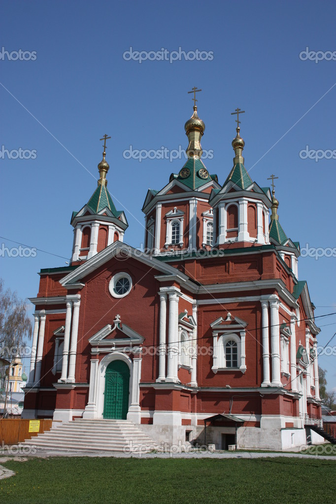 Russia, Kolomna. Krestovozdvizhenskiy Cathedral in Brusensky monastery. — Stock Photo #6639223