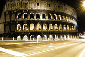 Roman Coliseum by night — Fotografia Stock