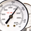Stock Photo: Close up of manometer