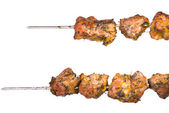 Skewers of barbecue — Stock Photo