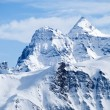 Stock Photo: Swiss mountains covered with snow