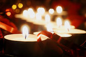 Candles for christmas — Stock Photo