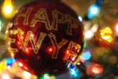 красный рождество безделушка — Стоковое фото