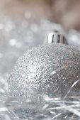 Silber brosche — Stockfoto
