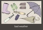 Bad weather — Stockvector