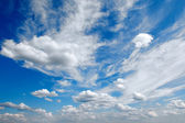 Panorama blue sky with clouds — Stock Photo
