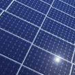 Stock Photo: Solar panels in row