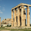 Temple of Zeus and Acropolis, Athens — Stock Photo
