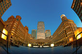 Canary wharf, cabot square, londres — Foto Stock