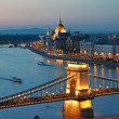 Budapest skyline by night — Stock Photo #6145724