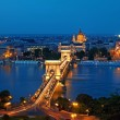 Budapest skyline by night — Stock fotografie