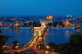 скайлайн будапешт ночью — Стоковое фото