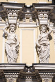 Caryatid on the facade of the old building. Fontanka Embankment. — Stock Photo