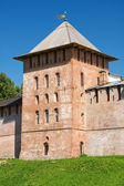 Tower reigned Novgorod Kremlin. Veliky Novgorod, Russia — Stock Photo