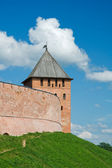 Novgorod Kremlin Palace Tower, the fortification ditch — Stock Photo