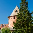 Постер, плакат: Fedor Tower the Kremlin in Veliky Novgorod