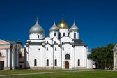 St. Sophia Cathedral of Novgorod Kremlin, on a sunny day — Stock Photo
