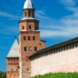 Kokui Tower, a fortification. Veliky Novgorod Kremlin. Russia - Stock Photo