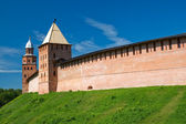 Tower reign and Kokui. Veliky Novgorod, Russia — Stock Photo
