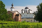 St. Nicholas Cathedral. Twelve century, Novgorod, Russia. — Stock Photo