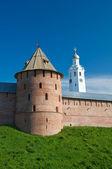 Fedor tower Chasozvonya for a fortification. Veliky Novgorod — Stockfoto