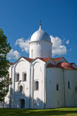 Church of St. John in the flasks Xll century. Veliky Novgorod — Stock Photo