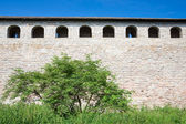 Wall Schlusselburg fortress. The inner side. Russia — Stock Photo