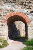 The old gate of the fortress wall. Fortress Nut. — Stock Photo