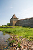 Sovereign Tower Shlisselburg fortress on the Neva river. Russia — Stock Photo