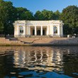 Stock Photo: Pavilion pier in Mikhailovsky Garden on shore sinks in 1