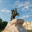 Monument to Tsar Peter the first. The Bronze Horseman. St. Peter - Stock Photo