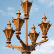 Decorative lights against the blue sky. Palace Square. St. Peter - Stock Photo