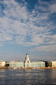 Cabinet of Curiosities. The Neva River, early morning. St. Peter — Stock Photo