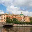 Mikhailovsky Castle. Engineers' Castle. Fontankriver. St. Pete — Stock Photo #6586258