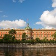 Mikhailovsky Castle. Engineers' Castle. Fontanka river. St. Pete — Stock Photo
