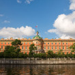 Mikhailovsky Castle. Engineers' Castle. Fontanka river. St. Pete - Stock Photo