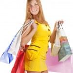 Shopping. Beautiful girl with bag — Stock Photo #5388565