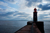 Lighthouse over blue sky in Bremerhaven — Stock Photo