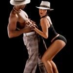 Fashion Couple Dramatic image shot — Stock Photo