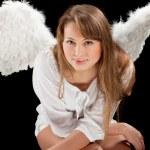Beautiful blonde angel woman — Stock Photo #5419328