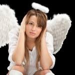 Beautiful blonde angel woman — Stock Photo #5419376